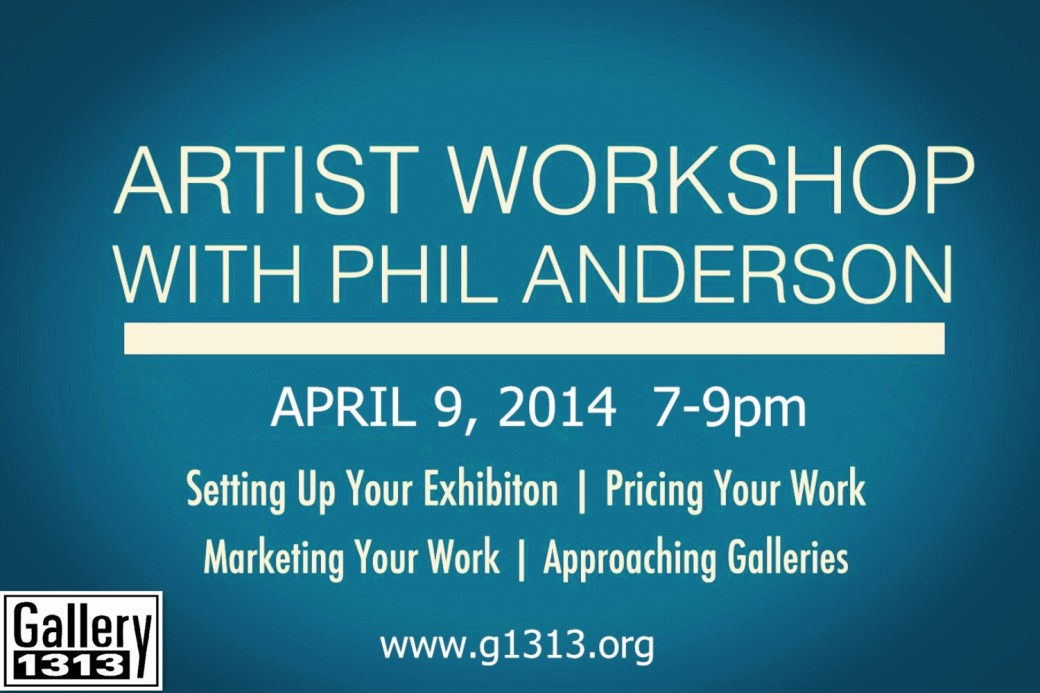 ARTIST WORKSHOP   April 9