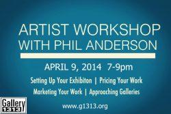 ARTIST WORKSHOP   April 9
