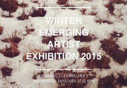 Winter Emerging ArtistExhibition 2015, January 21-February 1