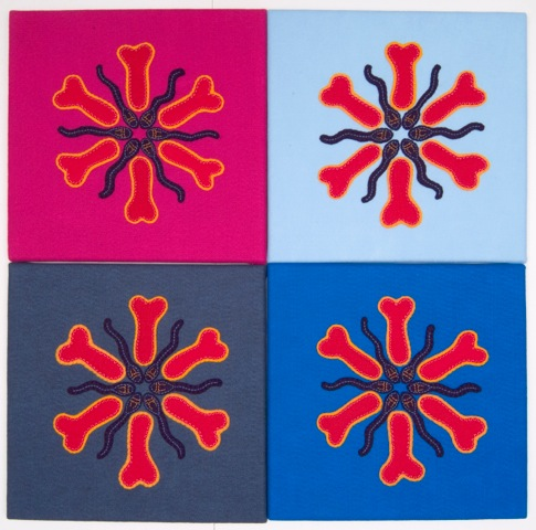 #2. Male Mandala Series I (2006) by Philip Hare 32_ X 32_ Textiles