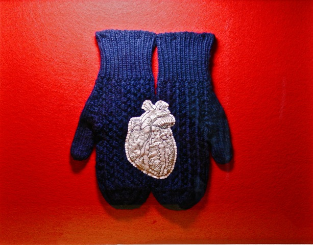 #3. I Hold My Father's Heart With My Mother's Hands (2011) 18_ X 24_ Textiles