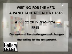 A Panel Talk – Writing for the arts