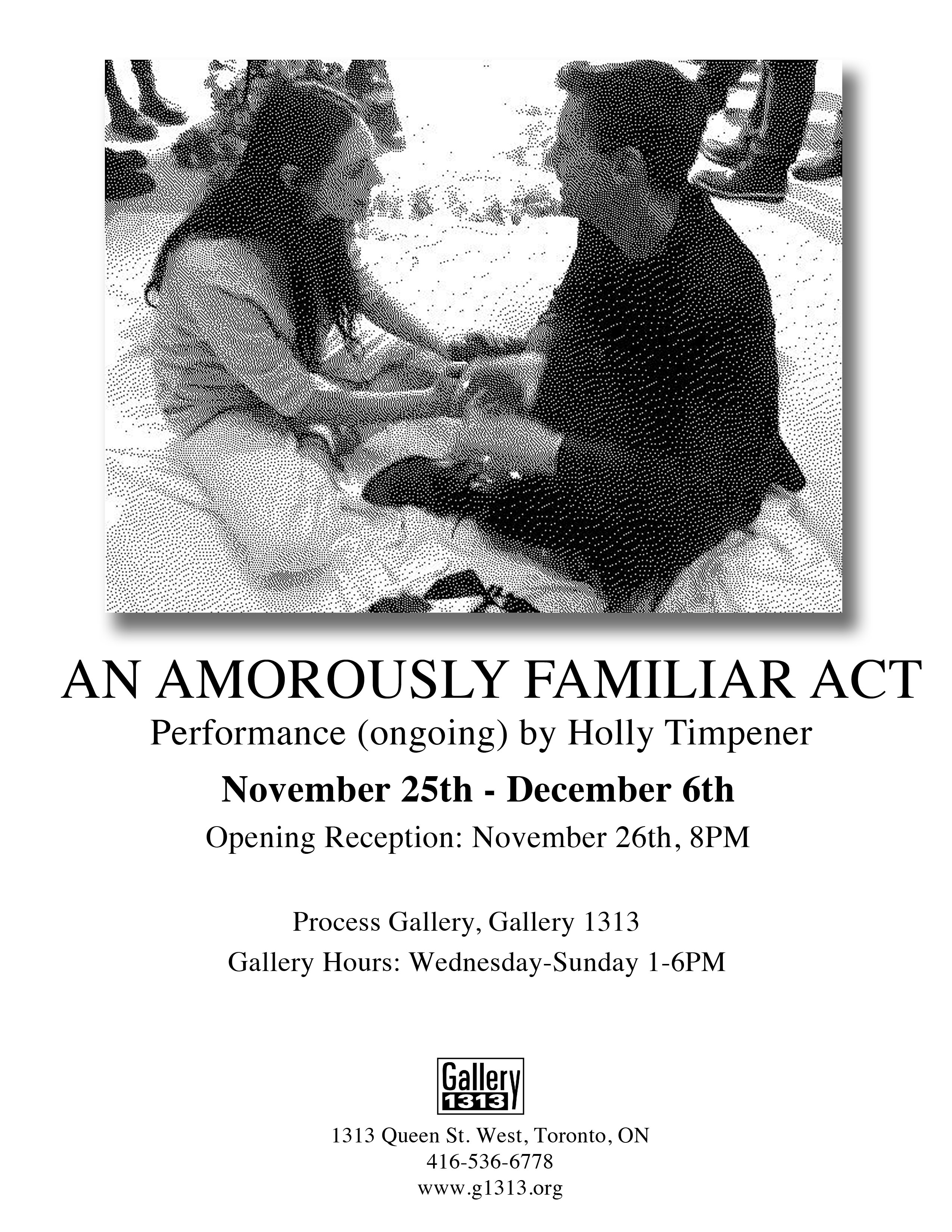 An Amorously Familiar Act by Holly Timpener