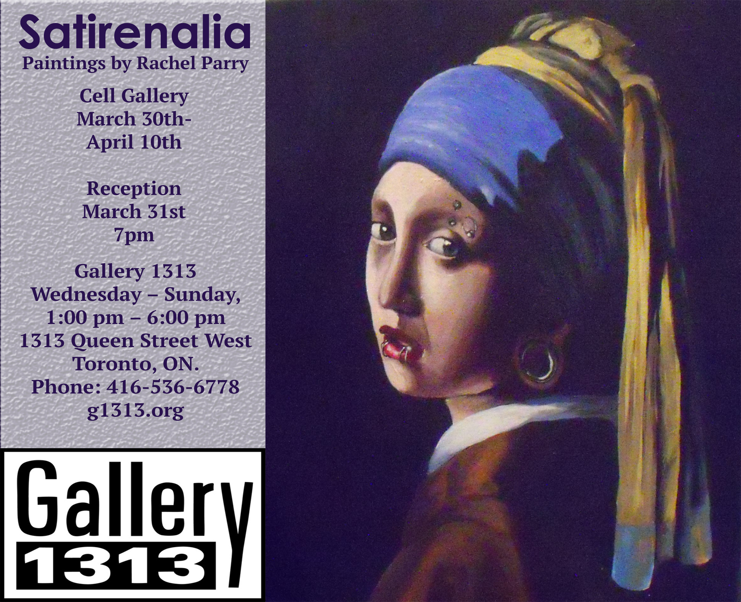 Satirenalia Exhibition Poster