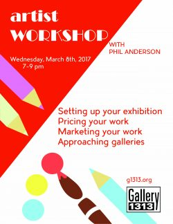 Artist Workshop with Phil Anderson March 8th