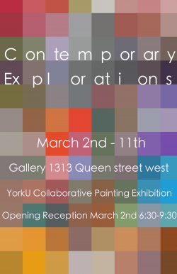 Contemporary Explorations March 2-11