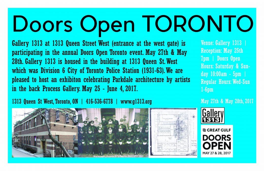 Doors Open Toronto – May 27 & 28