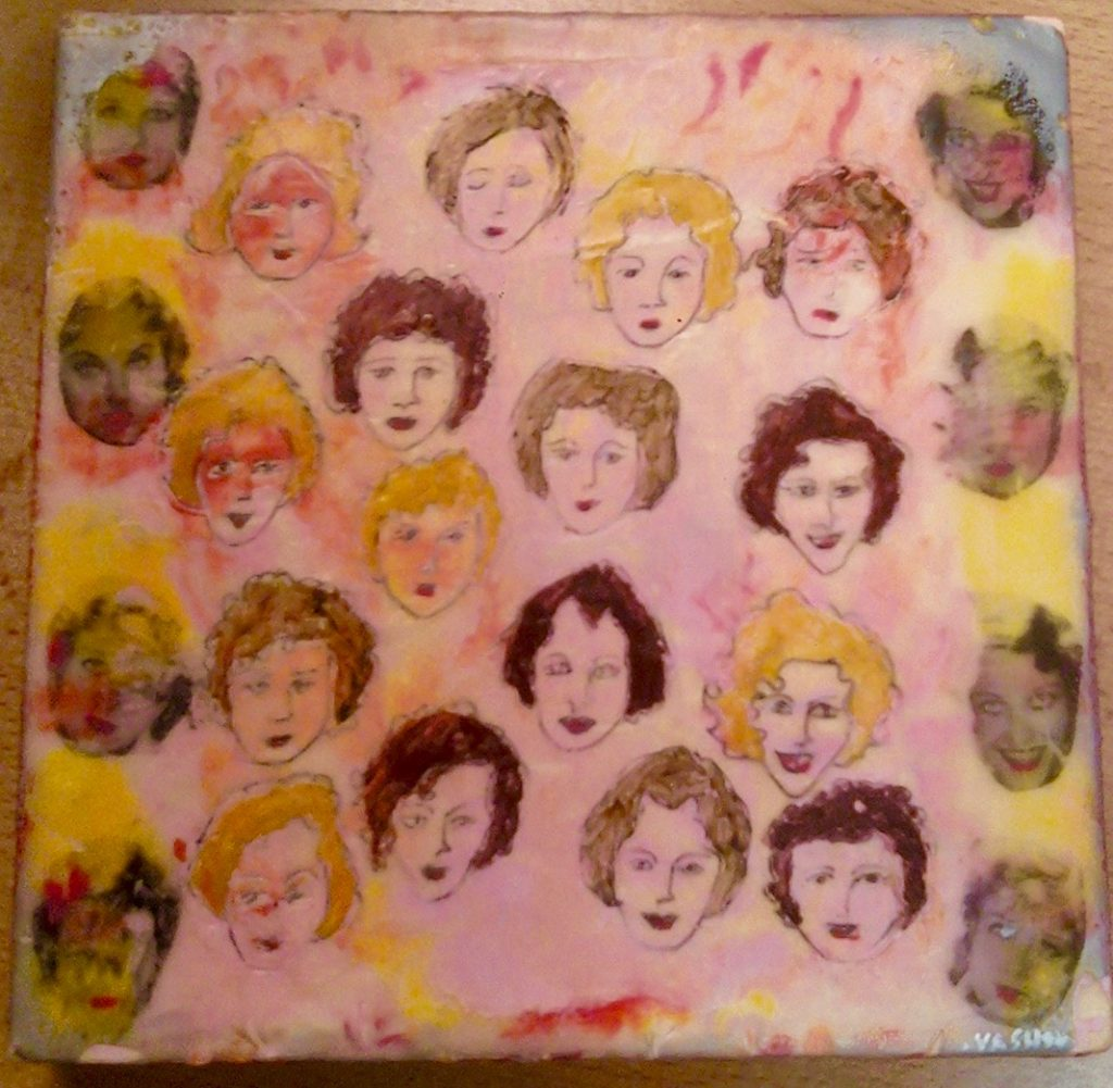 Our Dancing Daughters 6x6 encaustic