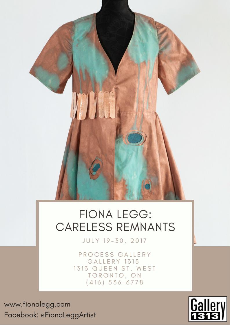 Fiona Legg: Careless Remnants July 19 – 30