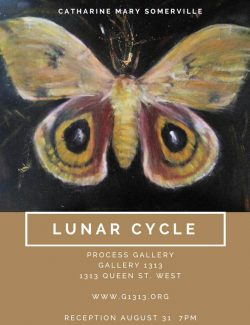 LUNAR CYCLE  works by Catharine Mary Somerville Aug 30 – Sep 10