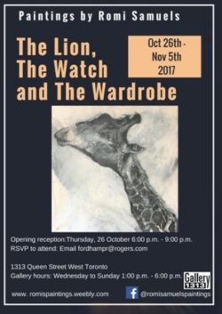 Romi Samuels – The Lion, the Watch and the Wardrobe – Oct 25 – Nov 5
