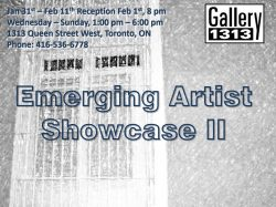 Emerging Artist Showcase II – Jan 31 – Feb 11
